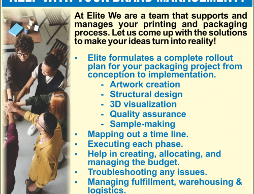 Elite Formulates a Complete Rollout Plan For Your Printing & Packaging Needs